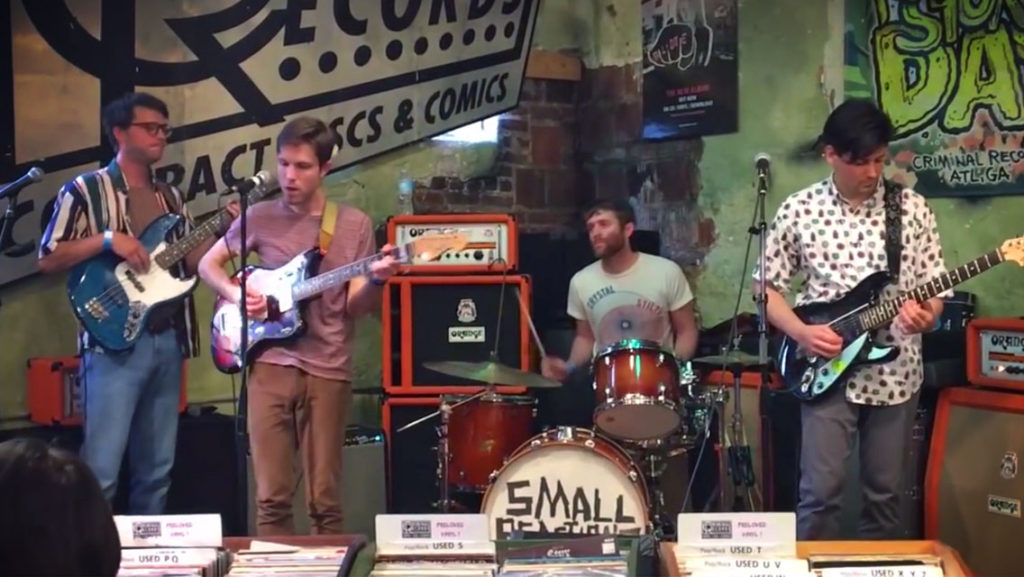 small reactions performace record store day atlanta 2017 criminal records little five points